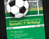 Soccer Birthday Invitations