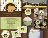 Monkey Baby Shower Essentials Printables Collection