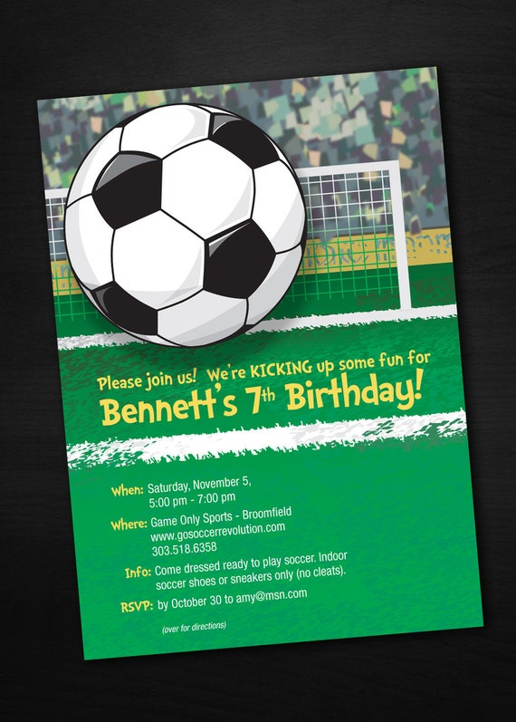 Soccer Birthday Invitations by Sassy Party Designs | Catch ...