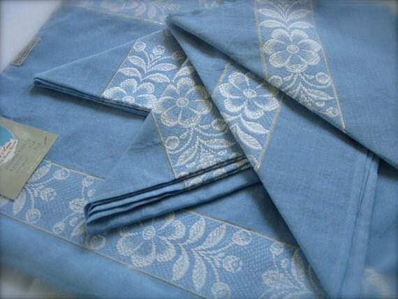 Mid Century Lini e Lane Napkin/Placemat Set Luncheon, Strawbridge & Clothier