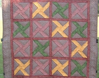 Autumn Leaves Lap Quilt