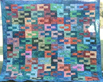 Geometric  Print  Full Sized Bed Quilt