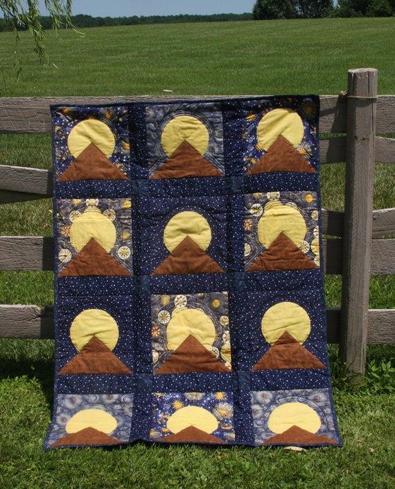Moon Over The Moutain Lap Quilt