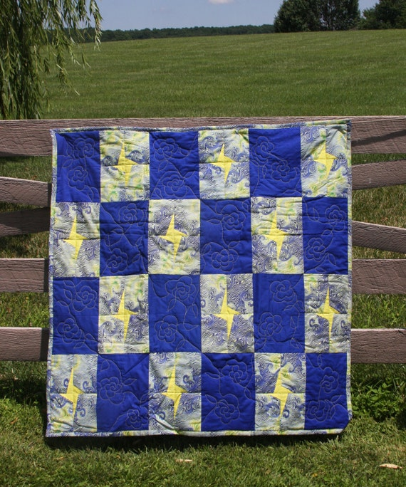 Stars and Roses Lap Quilt