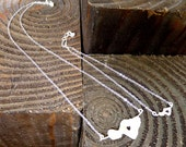 Heart In Maui Necklace and Anklet Set - Sterling Silver big and little Island handmade jewelry by Lynn, Sparrow Seas