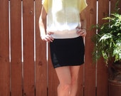 Vintage Yellow to White Fade Knit Top / Sweater - Womens Size Medium