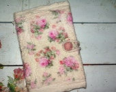 Felted romantic notebook covers