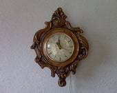 Vintage Porcelain Plug In Wall Clock Lanshire non working