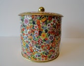 Vintage Floral Daher Tin Made in England