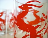 Federal Gazelle Drinking Glasses Red (4)
