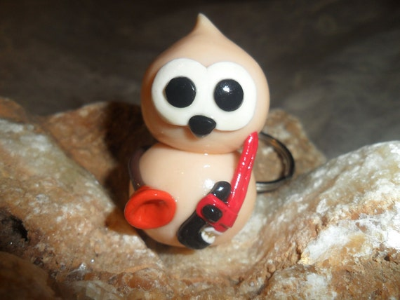 Plumber energy. EDF (every day friend) key ring. polymer clay