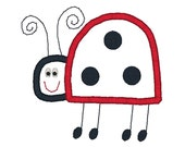 Ladybug Applique Machine Embroidery Design-INSTANT DOWNLOAD