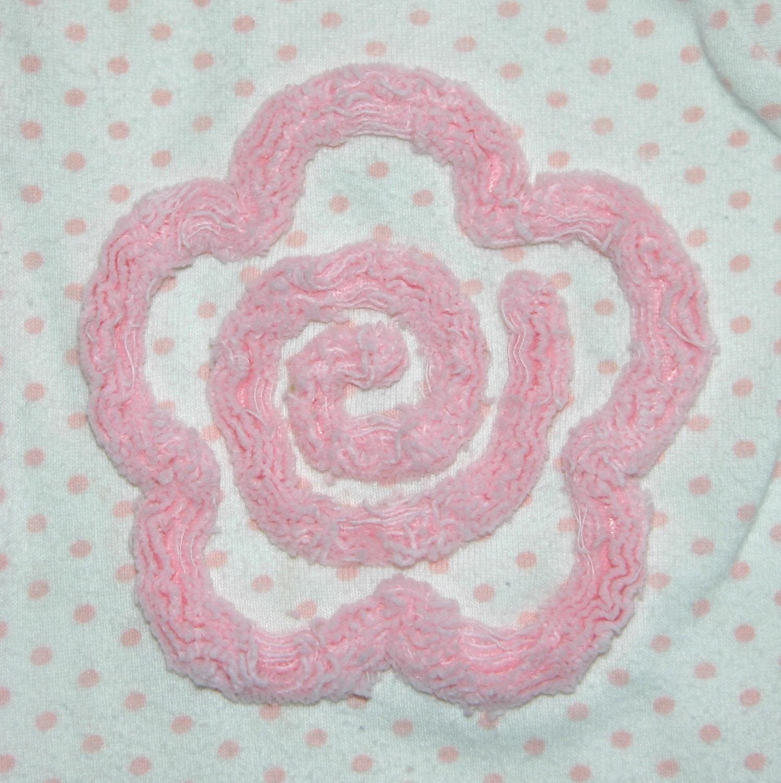 Chenille flower machine embroidery design instant download
