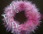 Pink feather boa for a special little girl.