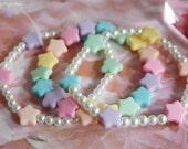Pastel Rainbow Star Bracelet Set