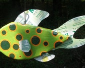 Funky Fish- Wood and Aluminum Can- Found Art- One of a Kind