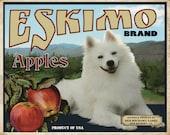 American Eskimo Dog Small Wooden Crate