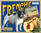 French Bulldog Small Wooden Crate