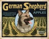 German Shepherd Small Wooden Crate