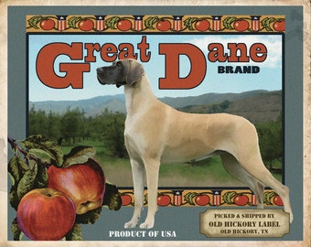 Great Dane Small Wooden Crate