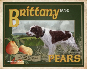 Brittany Spaniel Small Wooden Crate