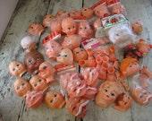 doll heads faces hands feet large collection santa dolls clowns monkeys elf