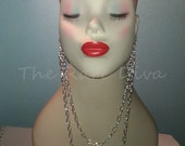 NEW Silver Earlace (Earring Necklace)  As Seen on Rihanna, Mob Wives