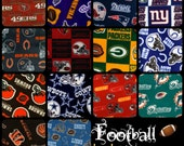 Handmade Fleece hand tied Blanket- Blanket for Adults- Men and Women Football Teams- Black Friday/Cyber Monday SALE!!!