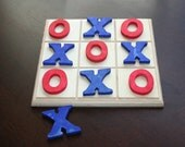 New Tic Tac Toe Wooen Game, Eco Friendly Game in blue and red
