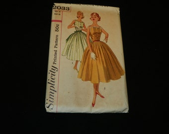 Simplicity 2033 Size 15  dress 1950's  Item #263-P