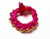 Gold Over-sized Custom Handmade Woven Chain Bracelet (Braid)