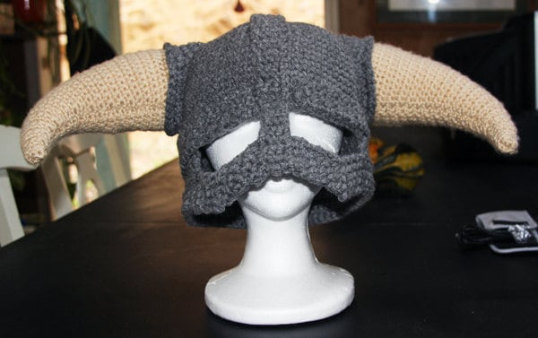 CROCHET PATTERN PDF for Skyrim Inspired Viking helmet
