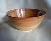 Small Serving Bowl, Porcelain with Blue and Purple Toned Amber Glaze