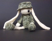 Peacemaker Soldier Bunny Ben with camouflage cap handmade toy