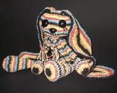 Vintage style grannys stripped velvet bunny
