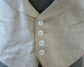 Men's Edwardian Vest - Ivory Jacquard- once worn by John W. Lovely - perfect for the father of the bride