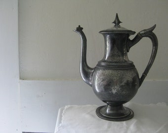 Antique Victorian Triple Plate Coffee Pot
