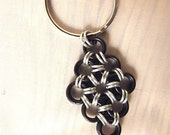Japanese Diamond Chainmaille Keychain Black