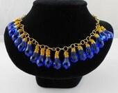 Blue Swarovski Crystal Necklace