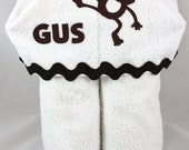 Personalized Hooded Bath Towel for toddler or child