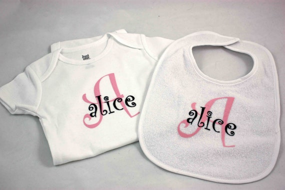 Personalized Bib and Onesie for baby/infant