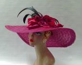 ON SALE - Fuschia Kentucky Derby Hat