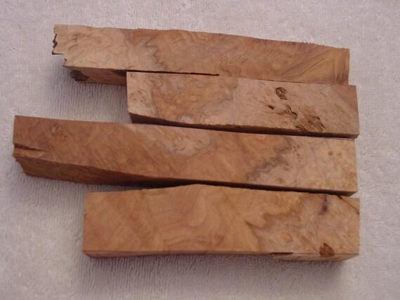 4 maple burl pen blanks