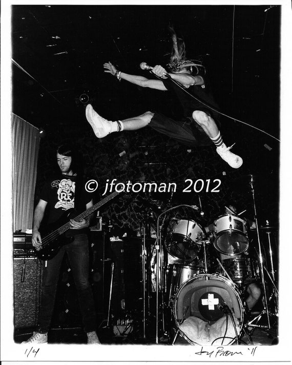 SNFU 8x10 b&w 1987 concert photo no. 1