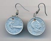 Tanzanian Coin Earrings- Silver