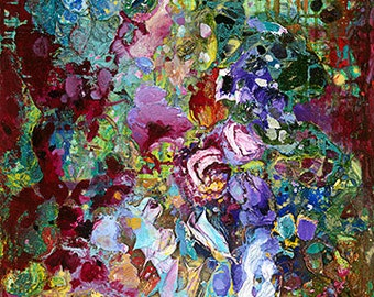 "Wildflowers Made to Order Fine Art Print (Giclee) on Canvas by Tracey Chikos 48"" x 24"""