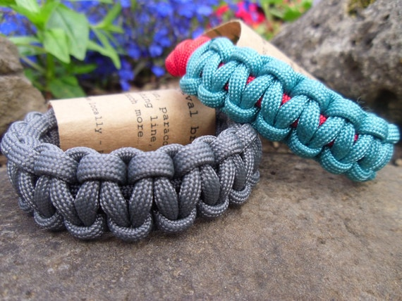 life-line  Paracord Bracelet with Knot Closure. Choose your colors for a custom look.