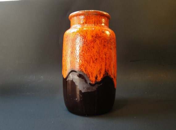 Mid Century Modern Pottery Vase Germany With Makers Mark