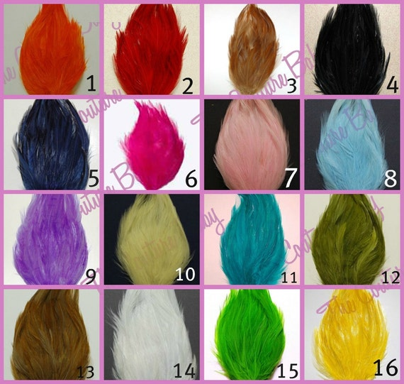 Pick 20  Wholesale Hackle Feather Pad
