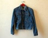Vintage Denim Jacket / 70s 80s Wrangler / Men's Small Women's Medium
